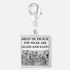 med,school Silver Square Charm