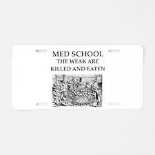 med,school Aluminum License Plate