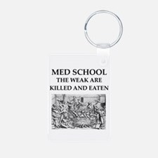med,school Keychains