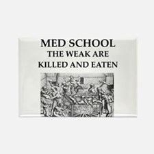 med,school Rectangle Magnet