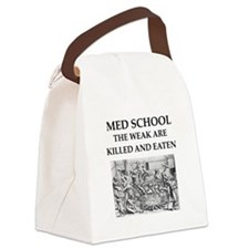 med,school Canvas Lunch Bag