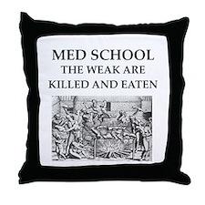 med,school Throw Pillow