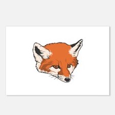 Baby Fox Head Postcards (Package of 8)