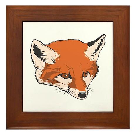 Baby Fox Head Framed Tile