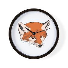 Baby Fox Head Wall Clock