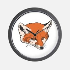 Baby Fox Head Wall Clock