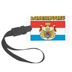 Luxembourg Flag Large Luggage Tag