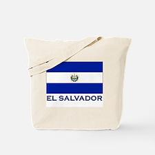 El Salvador Flag Gear Tote Bag