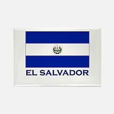 El Salvador Flag Gear Rectangle Magnet