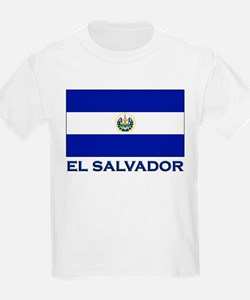 El Salvador Flag Gear Kids T-Shirt
