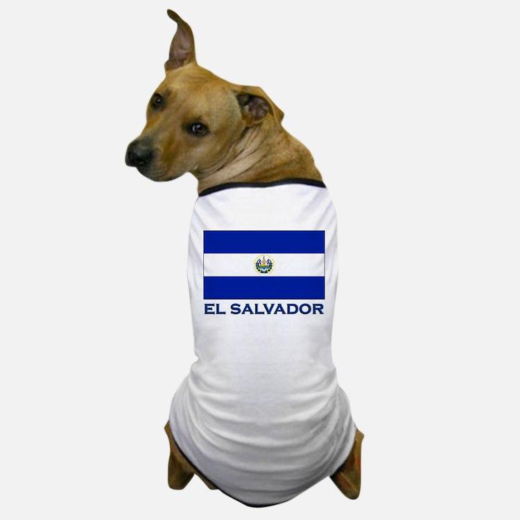 El Salvador Flag Gear Dog T-Shirt
