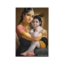 Yasoda & Krishna Rectangle Magnet