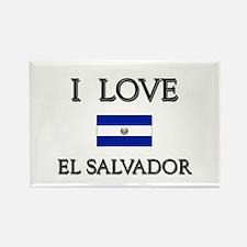 I Love El Salvador Rectangle Magnet