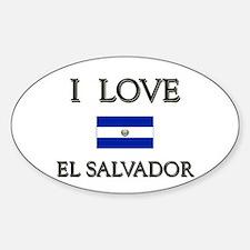 I Love El Salvador Oval Decal