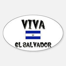 Viva El Salvador Oval Decal