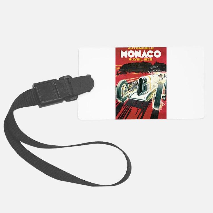 Monaco Grand Prix 1930 Luggage Tag