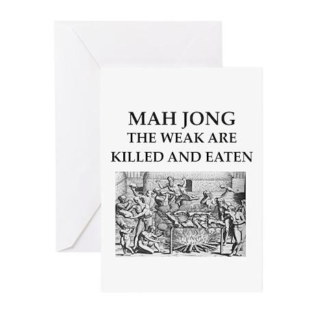 mah jong Greeting Cards (Pk of 20)