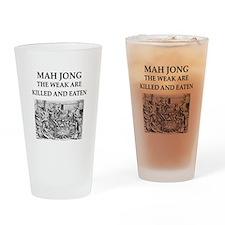 mah jong Drinking Glass