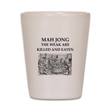 mah jong Shot Glass