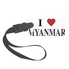I Love Myanmar Luggage Tag