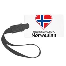 Happily Married Norwegian Luggage Tag