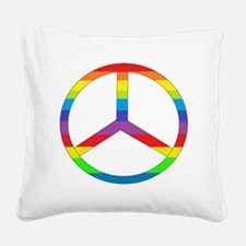 peace rainbow.png Square Canvas Pillow