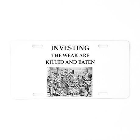 investing Aluminum License Plate
