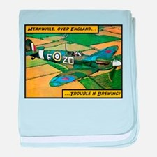 Spitfire - Trouble Brewing! baby blanket