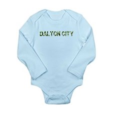 Dalton City, Vintage Camo, Long Sleeve Infant Body