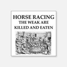 "horse racing Square Sticker 3"" x 3"""