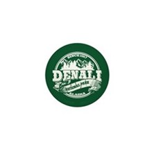 Denali Old Circle Mini Button