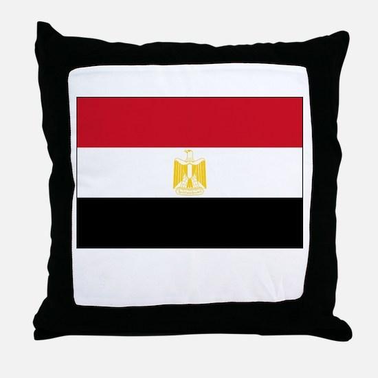 Egypt Flag Picture Throw Pillow