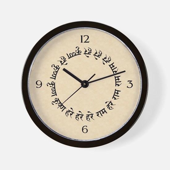 Maha Mantra Wall Clock