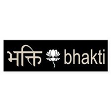 Bhakti Lotus Bumper Bumper Sticker