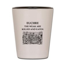 euchre Shot Glass