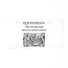 equestrian Aluminum License Plate