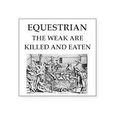 """equestrian Square Sticker 3"""" x 3"""""""