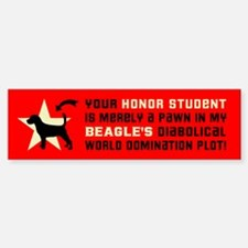 BEAGLE Dog World Domination! Bumper Bumper Sticker