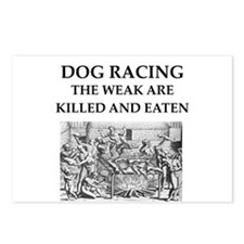 dog racing Postcards (Package of 8)