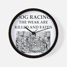 dog racing Wall Clock