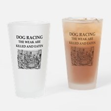 dog racing Drinking Glass