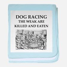 dog racing baby blanket