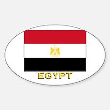 Egypt Flag Gear Oval Decal