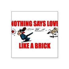 "Krazy Kat ""Nothing Says Love Rectangle Sticker"