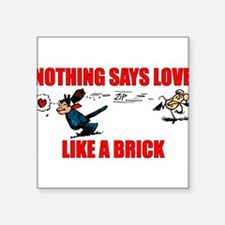 """Krazy Kat """"Nothing Says Love Rectangle Sticker"""