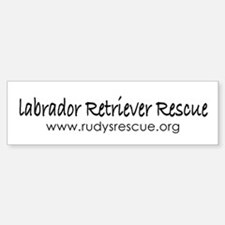 Labrador Retriever Rescue Bumper Bumper Bumper Sticker