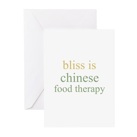 bliss is CHINESE FOOD THERAPY Greeting Cards (Pack