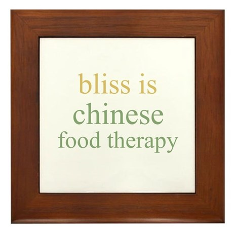 bliss is CHINESE FOOD THERAPY Framed Tile