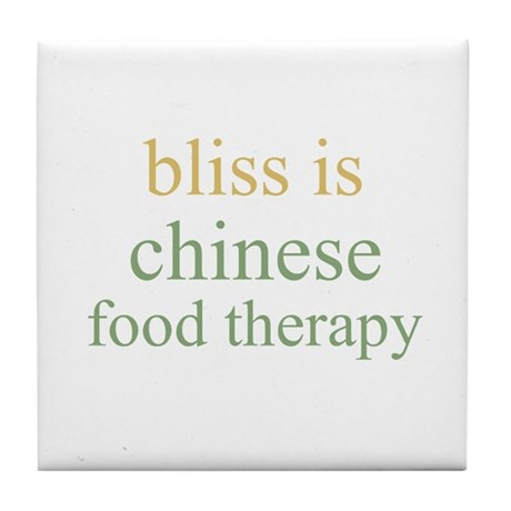 bliss is CHINESE FOOD THERAPY Tile Coaster