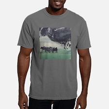 horsesin the mist11x11_p Mens Comfort Colors Shirt